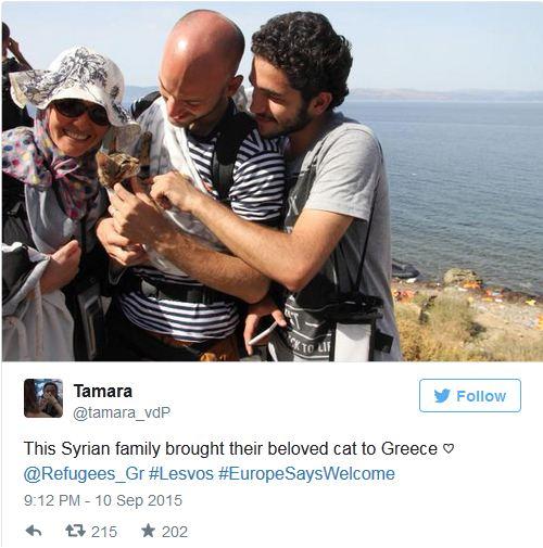Sirijski izbeglica u naručju nosio mače petface