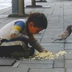 VRATIO VERU U HUMANOST: Dečak živi na ulicama Beograda, a svoj obrok deli sa golubovima!
