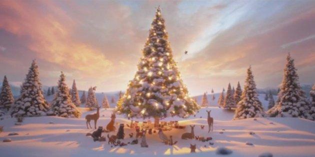 Božićna reklama petface