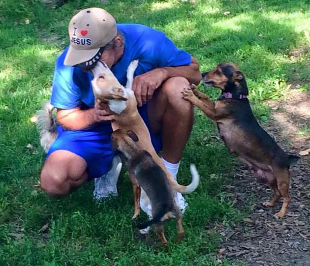 beskućnik spašava napuštene pse petface