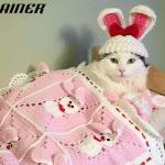 Spasena mačka sada spava u svom krevetiću za lutke