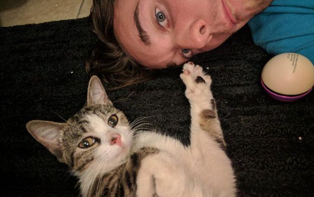 Napuštena mačka pratila čoveka kući i rešila da nikada ne ode