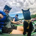 AVANTURAMA NIKAD KRAJA: Vlasnik i mačak Simon planinare i voze se kajakom!