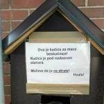 NATPIS KOJI JE ODUŠEVIO: Ne dirajte OVU kućicu za mace!