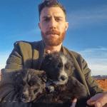 Čovek je našao dva šteneta u pustinji, pa proputovao sa njima 35 zemalja SAD-a!