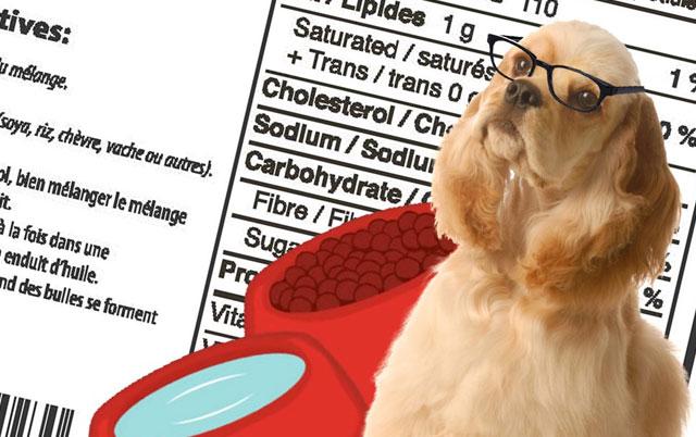 kao čitati etikete na hrani za pse